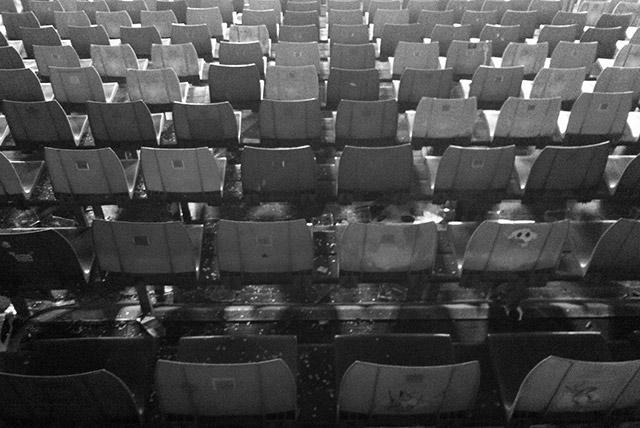 Sitze auf der Gegengeraden