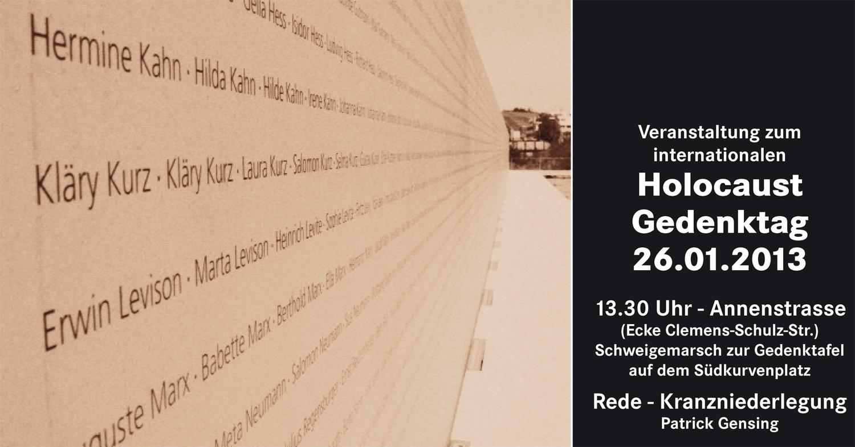 26.01.2013: Veranstaltung zum Internationalen Holocaust-Gedenktag