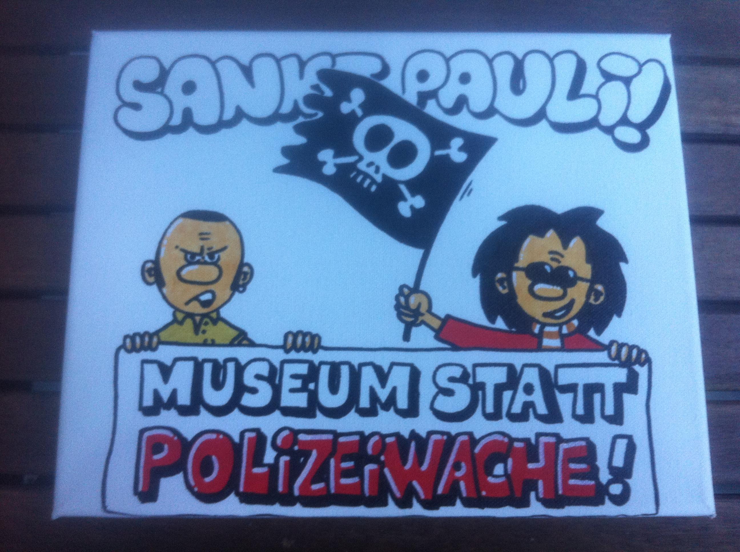 Protestkunst aus dem Fanladen…